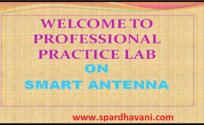 WELCOME TO PROFESSIONAL PRACTICE LAB ON SMART ANTENNA