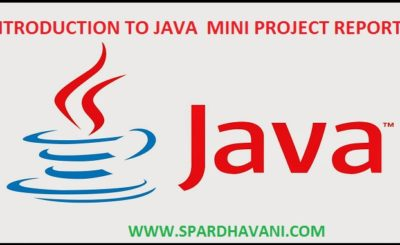 INTRODUCTION TO JAVA MINI PROJECT REPORT