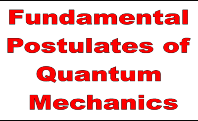 Fundamental Postulates of Quantum Mechanics | Msc Mini Project Report